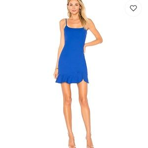 Shayla Ruffle Mini Dress in Cobalt